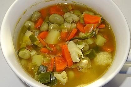 Dicke Bohnen-Suppe mit Kartoffeln und Möhren à la Didi