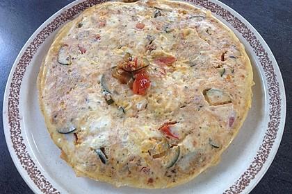 Zucchini mit Eiern auf kretische Art (Bild)
