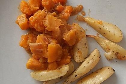 Vegane Kürbis-Zwiebel-Sauce (Bild)