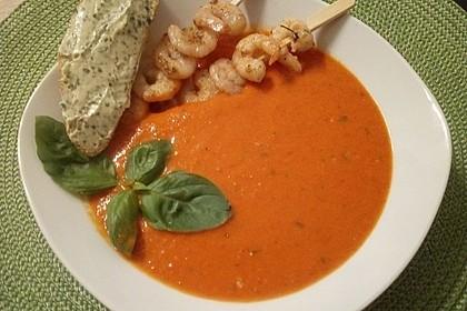 Paprika-Tomatensuppe (Bild)