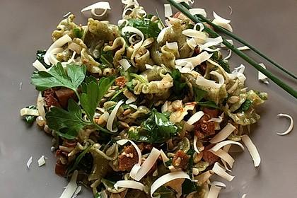 Grüner Nudelsalat mediterran