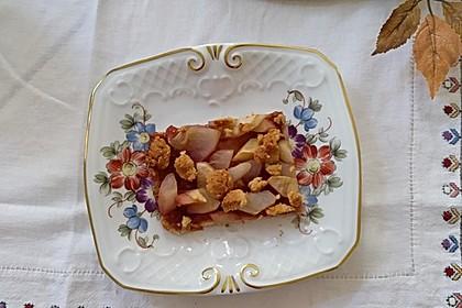 Apfelkuchen mit Dinkel-Haferflockenboden (Bild)