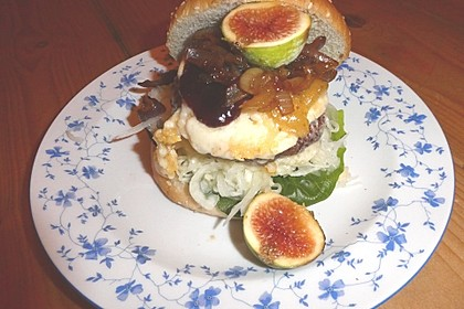 Ziegenkäse-Feigen-Hamburger