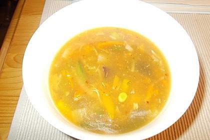 Sauer-scharfe-Suppe