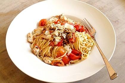 Tomaten-Hähnchenbrust-Spaghetti 1