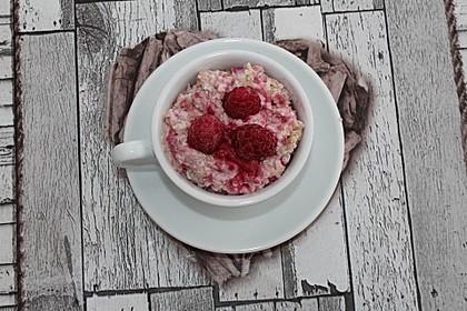 Erdbeer-Himbeer-Porridge