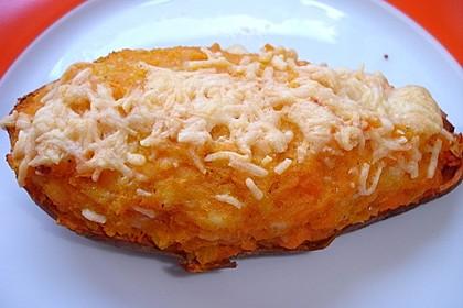 Süßkartoffel gefüllt mit Kürbis