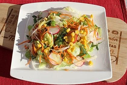 Eisberg-Möhren-Salat für Gäste
