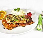 Lachsfilets auf Süßkartoffelrösti (Bild)