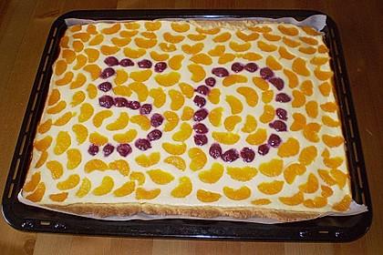 Quark - Mandarinen - Blechkuchen 8