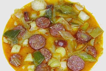 SABO - Kartoffeleintopf mit Wurst und Lauch