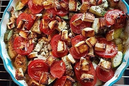 Zucchini - Schafskäse - Pfanne 6