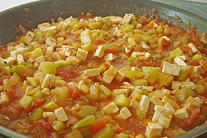 Zucchini - Schafskäse - Pfanne 13