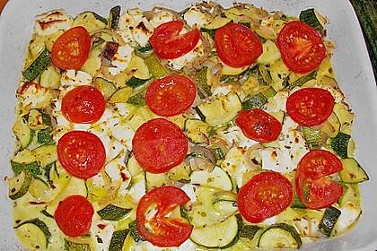 Zucchini - Schafskäse - Pfanne 12