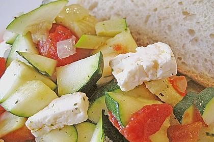 Zucchini - Schafskäse - Pfanne 18