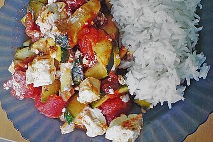 Zucchini - Schafskäse - Pfanne 4