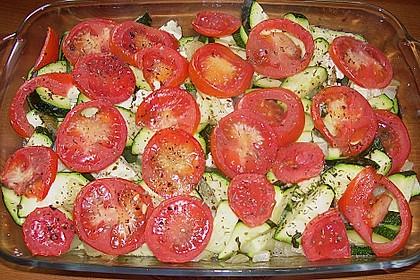 Zucchini - Schafskäse - Pfanne 15