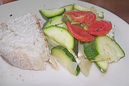 Zucchini - Schafskäse - Pfanne 16