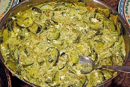 Zucchini - Schafskäse - Pfanne 23