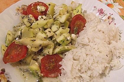 Zucchini - Schafskäse - Pfanne 17