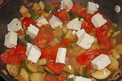 Zucchini - Schafskäse - Pfanne 8