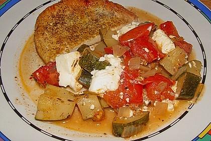 Zucchini - Schafskäse - Pfanne 3