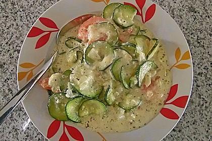 Zucchini - Schafskäse - Pfanne 14