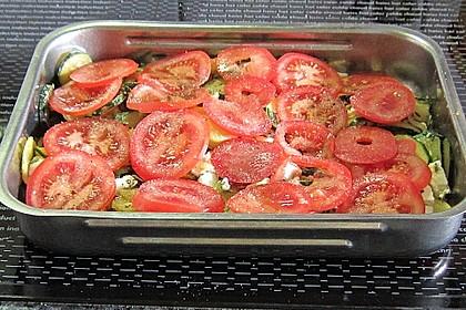 Zucchini - Schafskäse - Pfanne 5