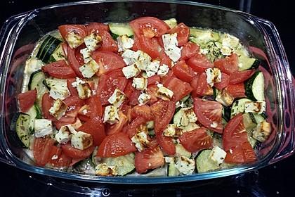 Zucchini - Schafskäse - Pfanne