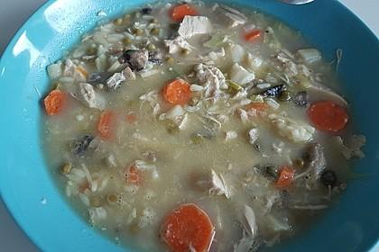 Hühnersuppe mit Reis 12
