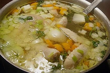 Hühnersuppe mit Reis 13