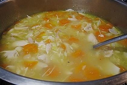 Hühnersuppe mit Reis 4