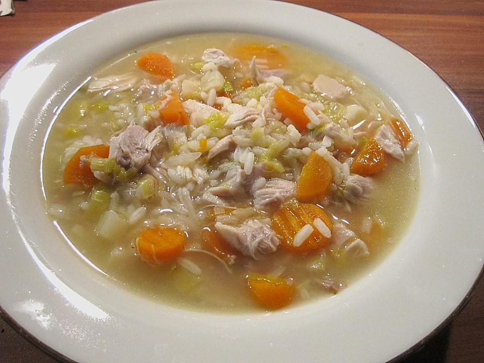Hühnersuppe Mit Reis Ein Sehr Leckeres Rezept Chefkoch