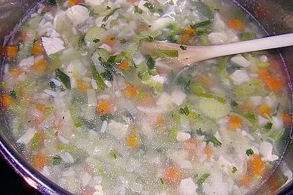 Hühnersuppe mit Reis 19