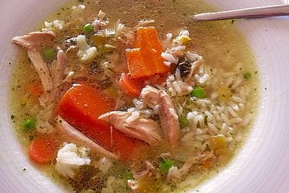 Hühnersuppe mit Reis 2