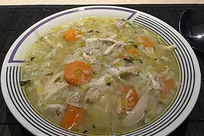 Hühnersuppe mit Reis 9