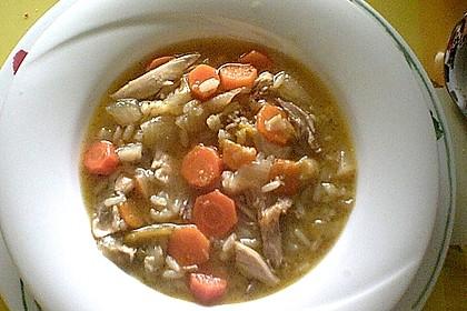 Hühnersuppe mit Reis 7