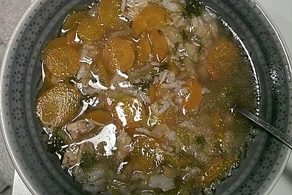 Hühnersuppe mit Reis 10