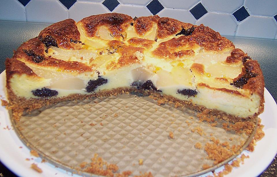 Mohn Quark Kuchen Mit Birnen Von Haianne Chefkoch De