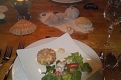 Schrat`s Tellersülze von Schellfisch und Krabben als Amuse Gueule (Bild)
