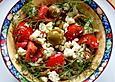 Kretischer Tomatensalat mit Oliven und Feta