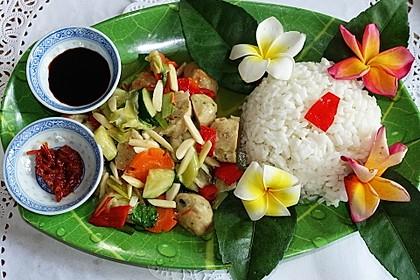Cap Cay Bakso Ayam pedas ala Warung Ibu Ani