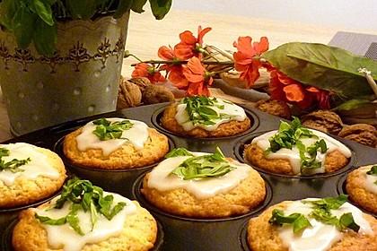 Erfrischende Limoncello-Basilikum-Muffins (Bild)