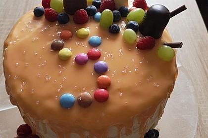 Fruchtige Regenbogen-Torte / Drip-Cake 1