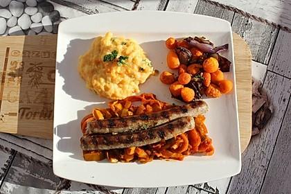 Geröstete Karotten und Zwiebeln (Bild)