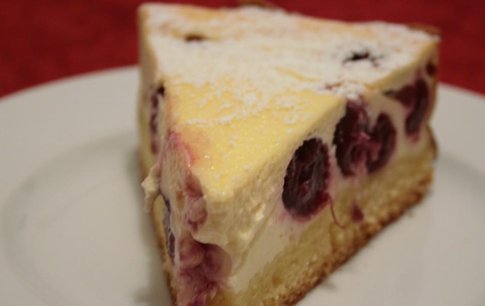 Quark Kirsch Kuchen Von Roland Ulm Chefkoch De