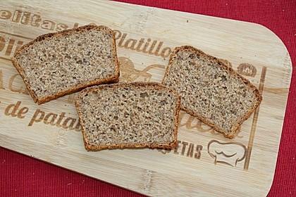 Dinkel-Roggensauerteig-Brot mit zweierlei Leinsamen und Kefir