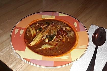 Dao xiao mian, traditionelle chinesische Nudel-Gemüse-Suppe