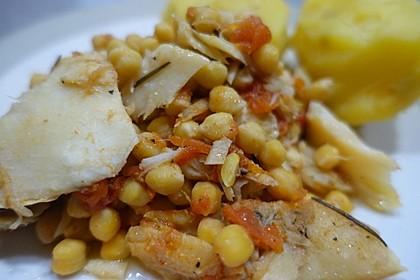 Stockfisch mit Kichererbsen - Ceci di Magro (Bild)
