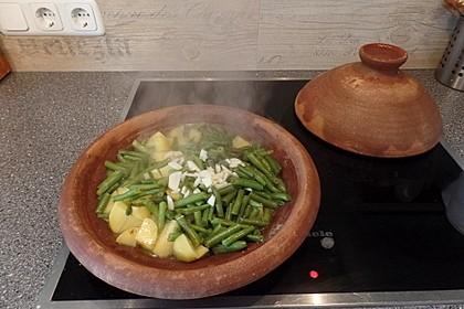 Kartoffel-Bohnen-Tajine mit Balsamicoessig
